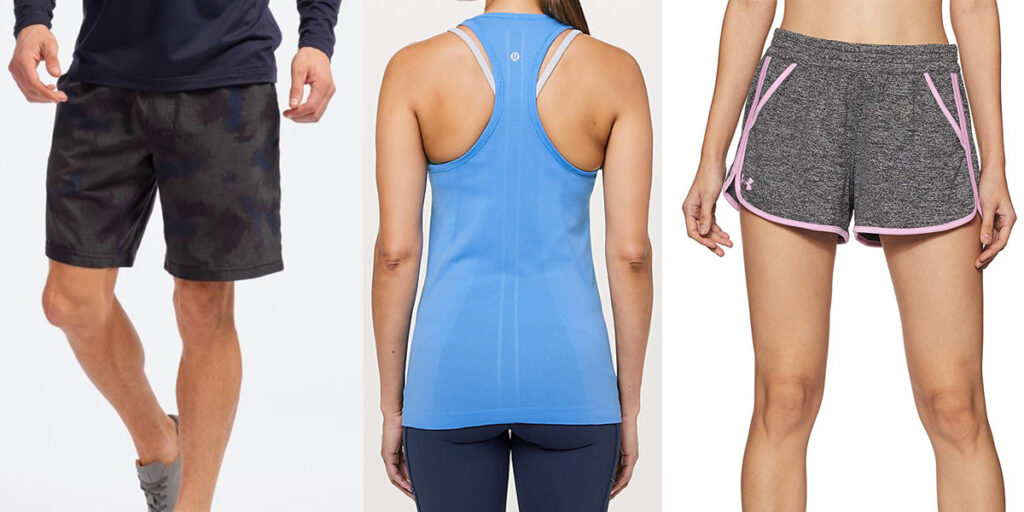 Antimicrobial workout clothes