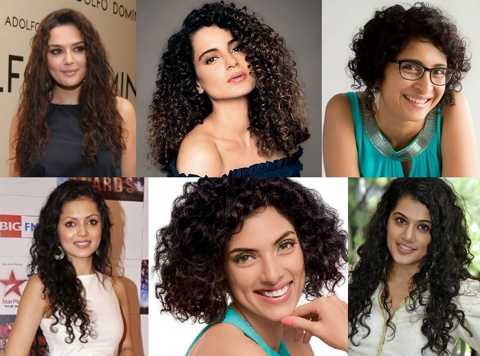 indian celebrities curly hairstyle